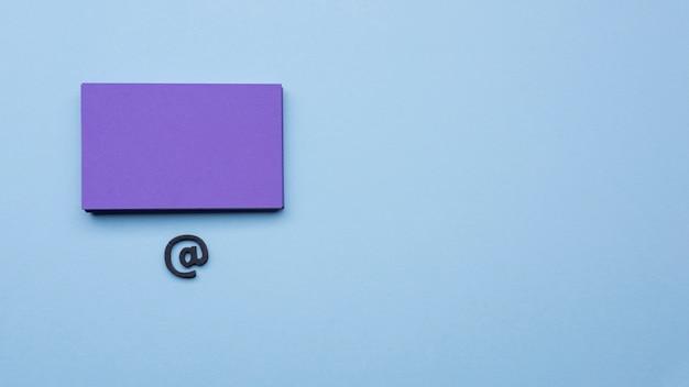 Espacio de copia de tarjeta de visita minimalista