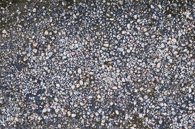 Espacio de copia de la vista superior de la superficie de la miga de granito