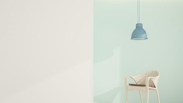 El espacio inerior relax en condominio - renderizado 3d