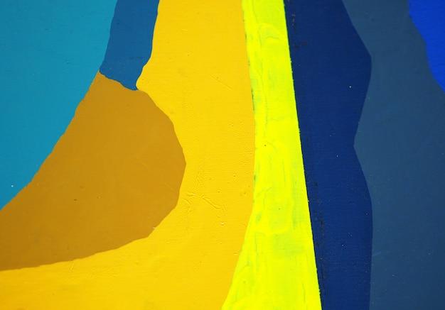 El espacio oscuro azul de la pintura al óleo y el fondo abstracto de la textura.