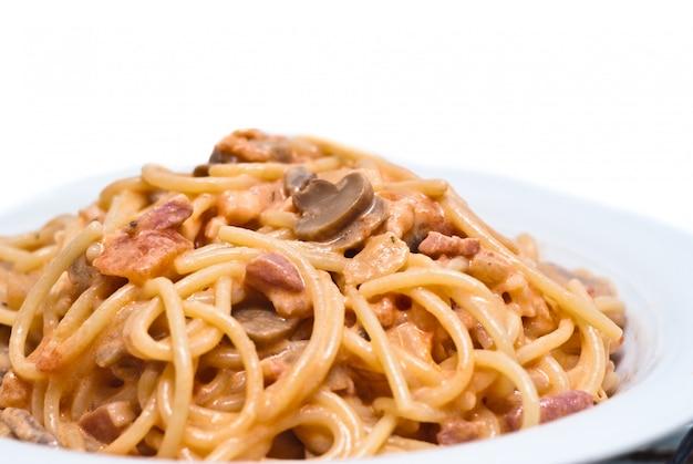 Espagueti con champiñones