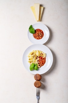 Espaguetis a la boloñesa cocidos