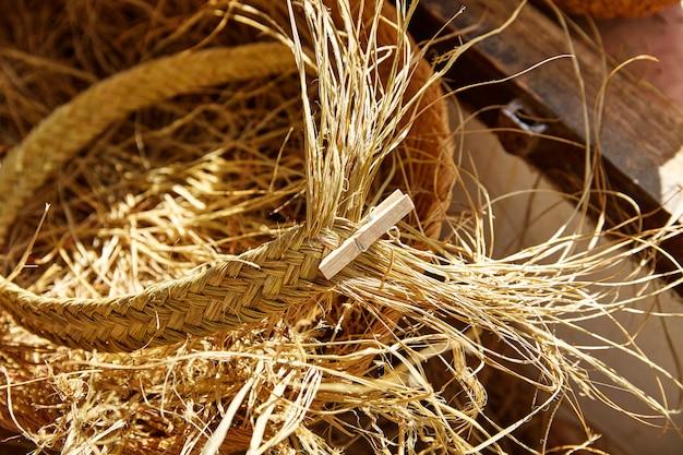 Esparto halfah hierba utilizada para la artesanía en cestería.