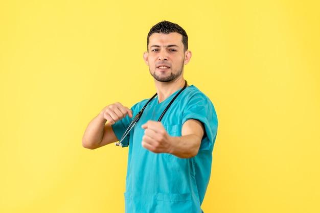 Especialista en vista lateral el médico sabe que todos los pacientes con coronavirus se habrán recuperado