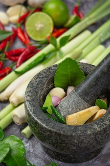 Especias de pasta de curry rojo tailandés
