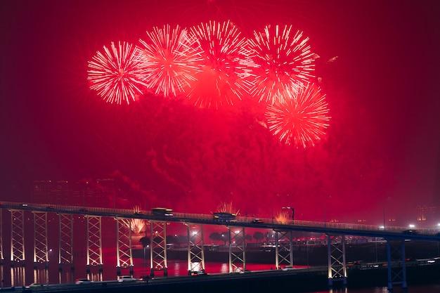 Espectáculo de fuegos artificiales de macao