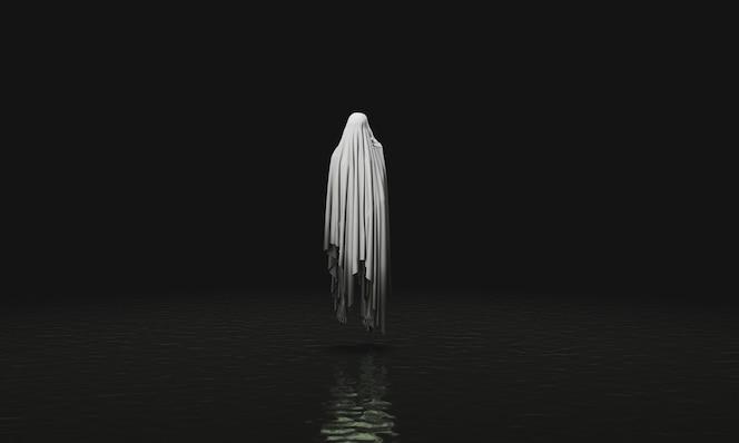Espíritu maligno flotante en un lago