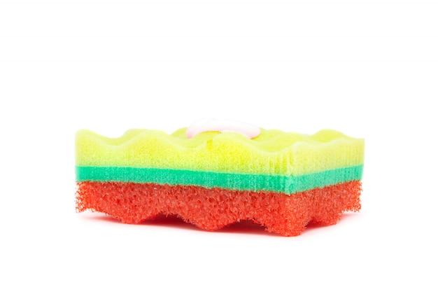 Esponja colorida con gel de ducha