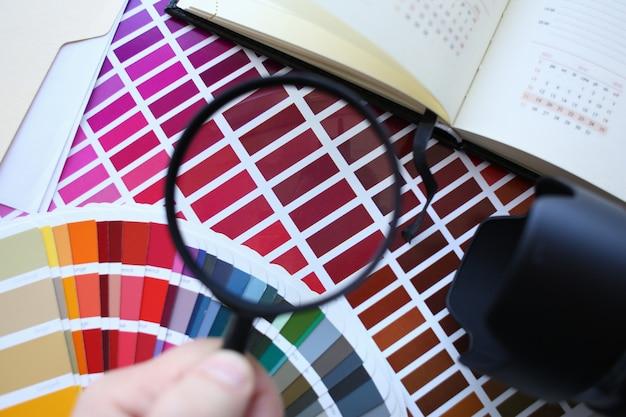 Esquema de impresión en color estadísticas offset