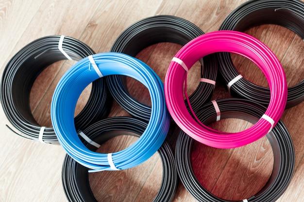 Establecer cable eléctrico de color