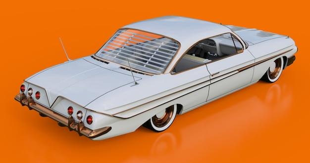Establecer viejo coche americano en excelentes condiciones. representación 3d