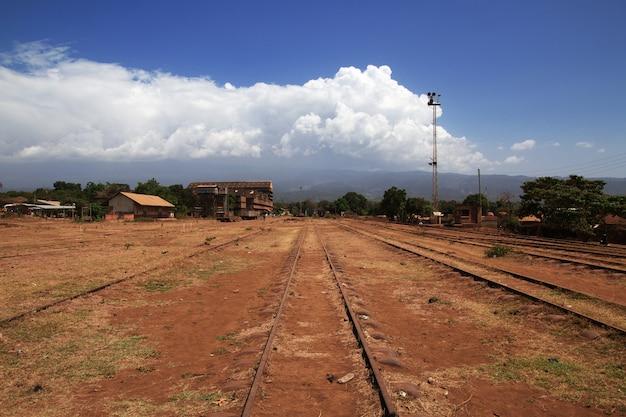 La estacion de ferrocarril en moshi