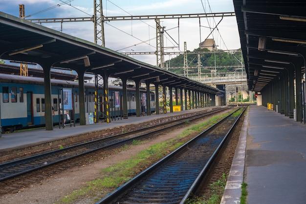 Estación de ferrocarril, en, praga