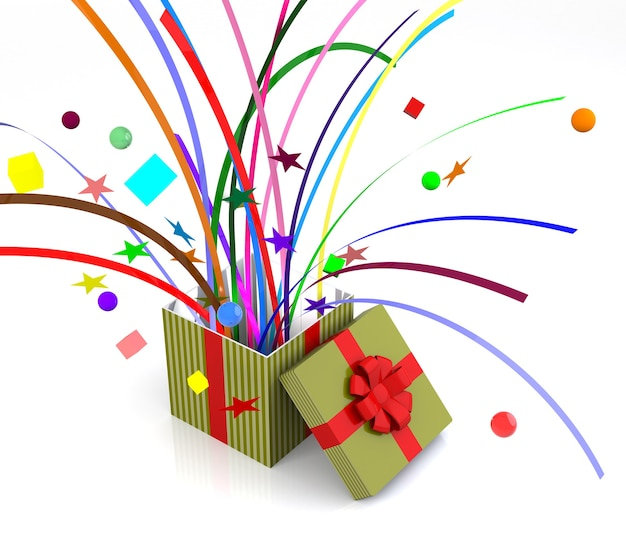 Estallidos de caja de regalo, adecuados para elemento sorpresa.