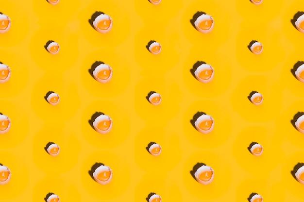 Estampado de panadería con huevos