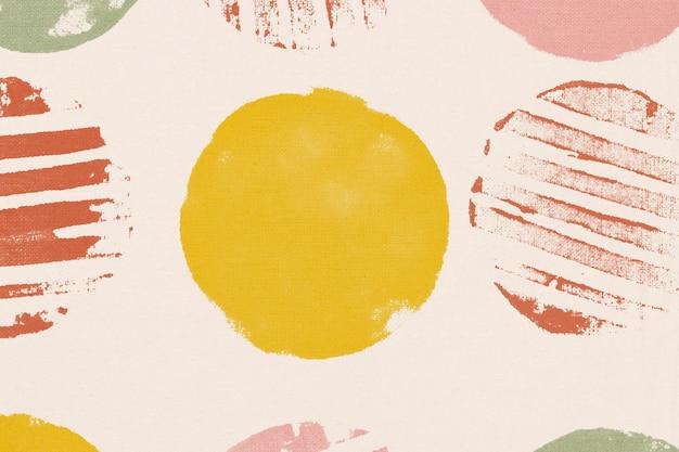 Estampados hechos a mano de fondo de patrón de círculo colorido
