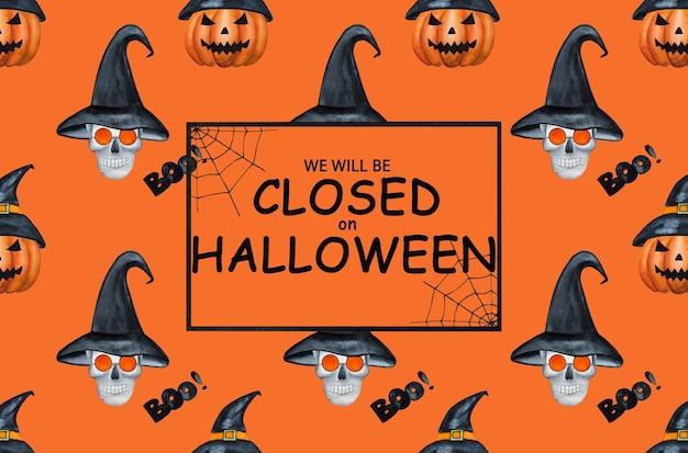 Estaremos cerrados por halloween. feliz halloween