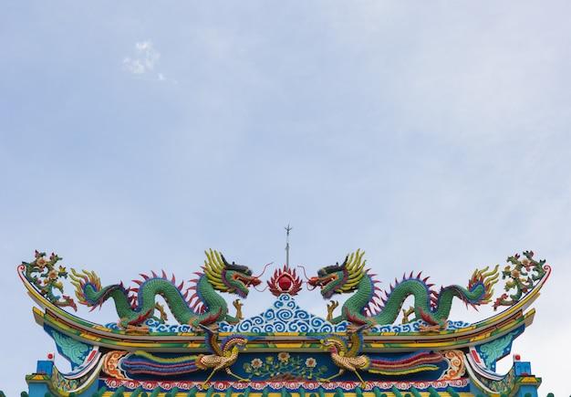Estatua del dragón de estilo chino