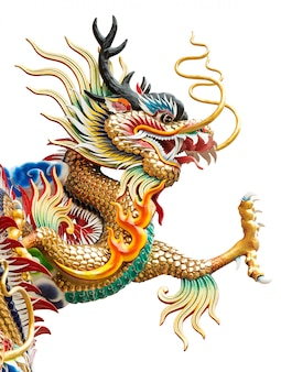 Estatua del dragón de oro