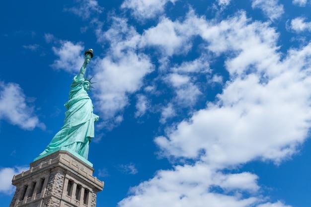 La estatua de la libertad de nueva york, estados unidos
