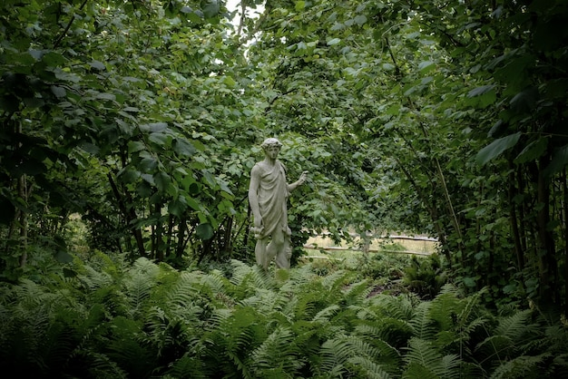 Estatua en un parque natural
