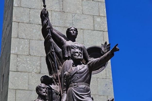 La estatua en santiago de chile