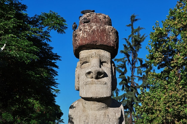 La estatua en santiago de chile.