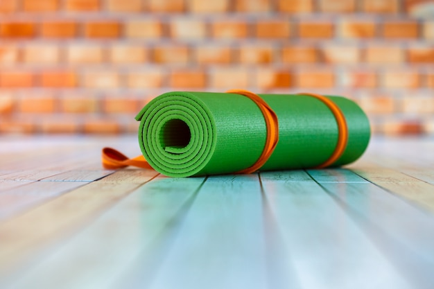 Estera de yoga color verde