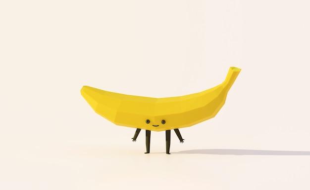 Estilo de dibujos animados divertidos de fruta de plátano