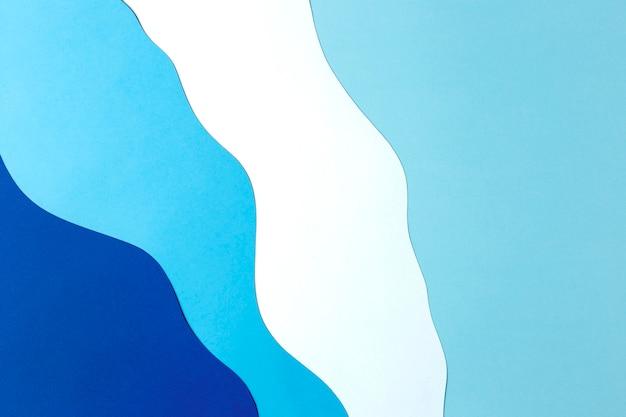Estilo de fondo de papel azul y blanco