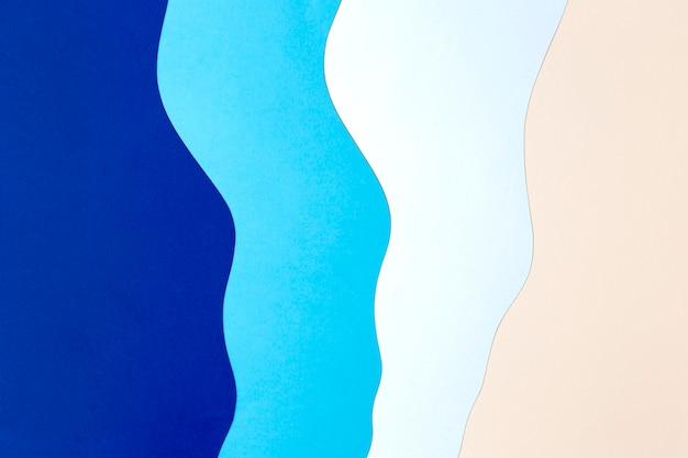 Estilo de fondo de papel azul y rosa