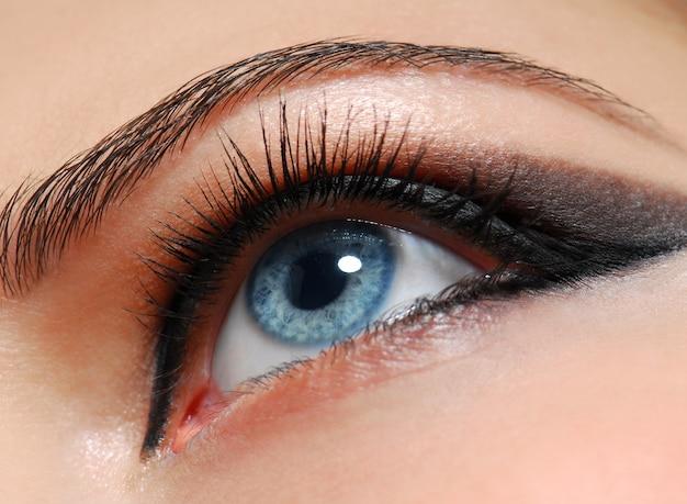 Estilo de maquillaje. ojo de mujer con diseño de moda.