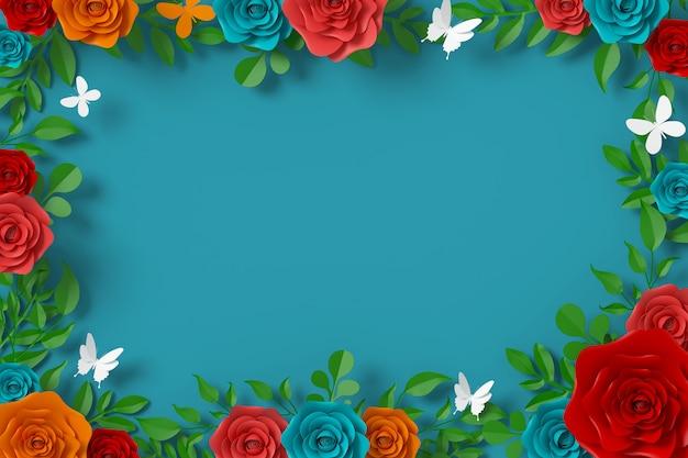 Estilo de papel de flores