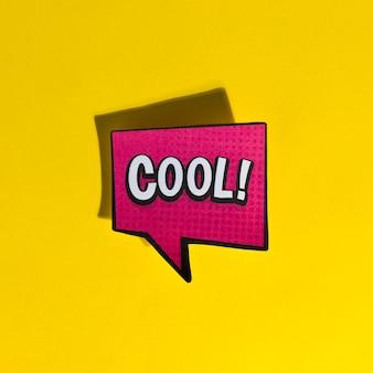 Estilo retro del arte pop de texto de burbuja de cómic