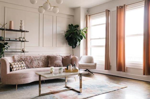Un estilo de sala de estar moderno