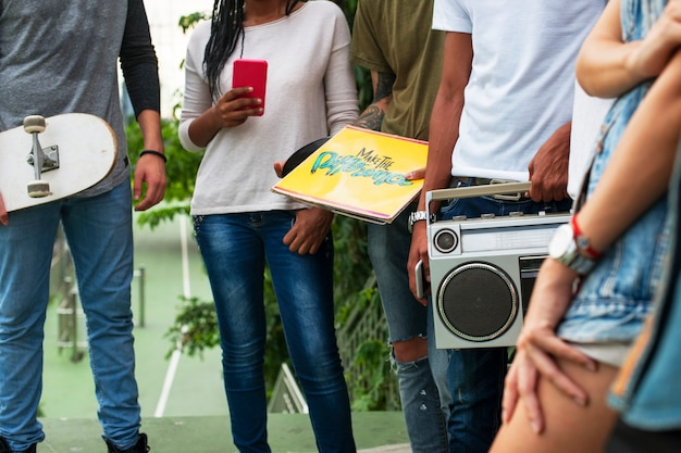 Estilo de vida de los adolescentes cultura casual concepto de estilo juvenil