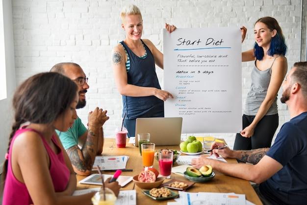 Estilo de vida saludable dieta nutrición concepto