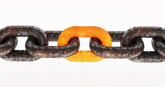 Estilo vintage, antigua cadena de acero oxidado