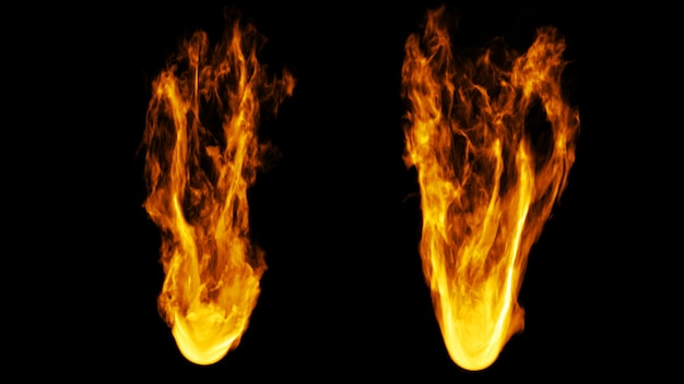 Estilos de fuego 2 sobre fondo negro