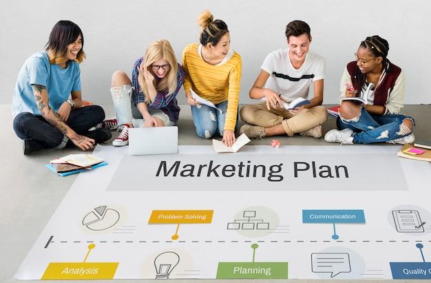 Estrategia de logro del plan de marketing