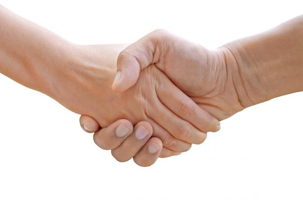 Estrechar la mano