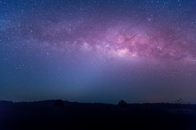 Estrella, astronomía, galaxia vía láctea, chaiyaphum, tailandia