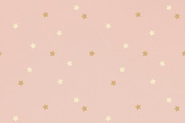 Estrella dorada reluciente estampada
