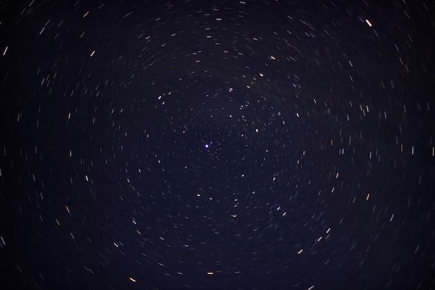 Estrella polar. trazador de las estrellas.