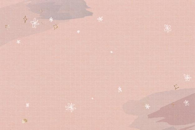 Estrellas brillantes en una cuadrícula de acuarela