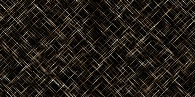 Estrellas brillantes en oro líneas abstractas y luces cortina de luz dorada que fluye luz con fondo de brillo bokeh