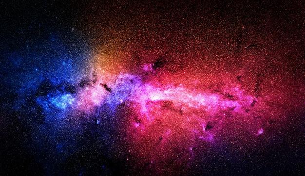 Estrellas de colores y espacio.