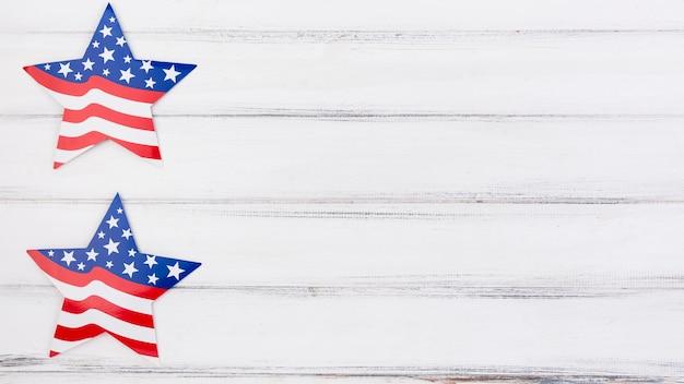 Estrellas decorativas para el día de la independencia.