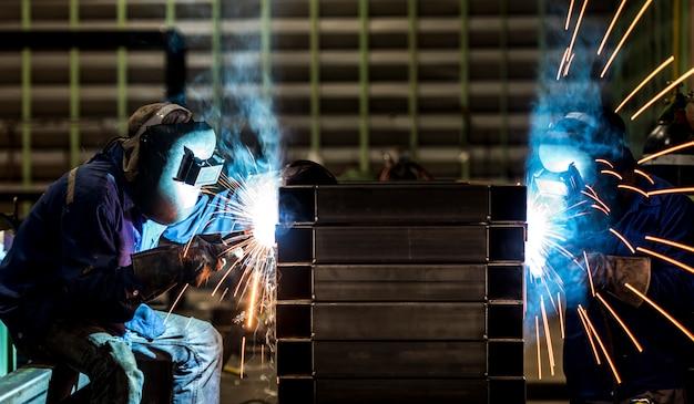 Estructura de acero de soldadura