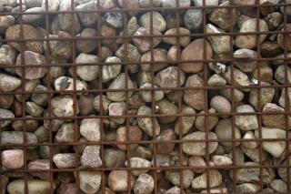 Estructura de la cerca de piedra